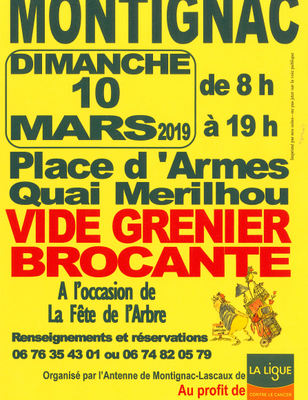 VIDE GRENIER – Ligue contre le Cancer Dordogne