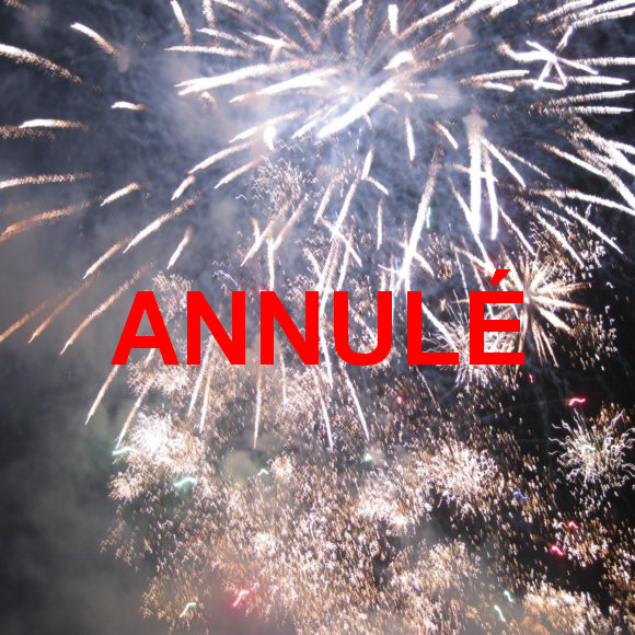 Feu d'artifice du 15 août – ANNULÉ