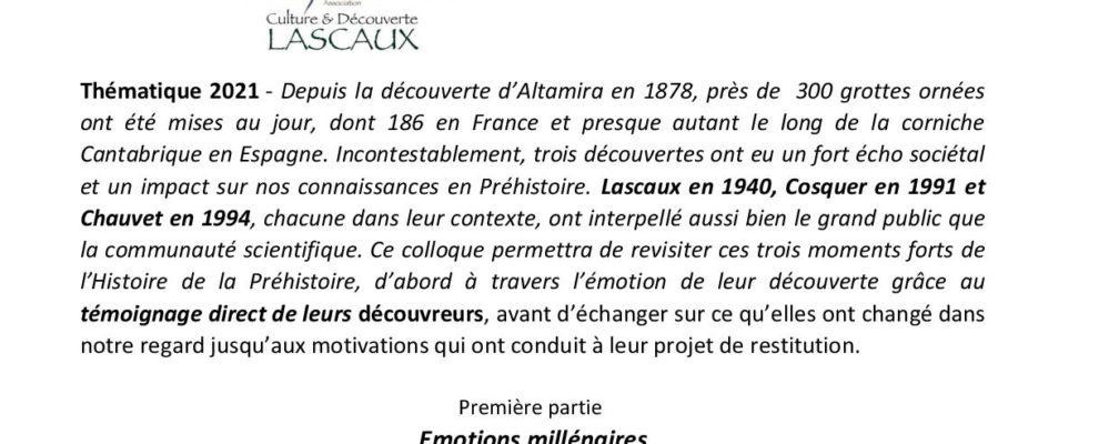 Colloque – Lascaux
